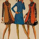 McCall's 2085 Hip 60s DRESS & LONG VEST Vintage Sewing Pattern