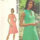 "Simplicity 5564 70s Uncut ""Designer Fashion"" Keyhole DRESS Vintage Sewing Pattern * UNCUT & FF"
