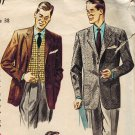 "Simplicity 4107 50s MEN""S ""Father Knows Best"" JACKET & VEST Vintage Sewing Pattern"