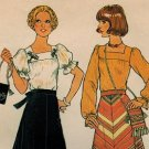 Simplicity 7477 70s *UNCUT Peasant BLOUSE, SKIRT & BAG Vintage Sewing Pattern