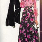 Simplicity 5977 70s Really WIDE LEG PANTS & Skirt & Blouse Vintage Sewing Pattern