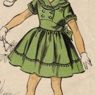 Advance 6132 50s Adorable Girl's Party DRESS Vintage Sewing Pattern
