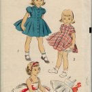 "Advance 6029 50s Girl's ""Back to School"" DRESS & SLIP with CRINOLINE SKIRT Vintage Sewing Pattern"
