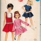 Butterick 4143 60s Hip Circular Skirt DRESS with Jewel Neckline Vintage Sewing Pattern