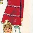 "Simplicity 8991 70s ""Hip"" Girl's DRESS & PANTS Vintage Sewing Pattern *UNCUT & FF"