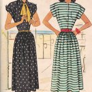 McCall 7249 1940s *UNCUT Cap Sleeve DRESS Vintage Sewing Pattern *Near MINT