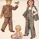 Simplicity 2300 40s Unisex Slide Fastened OVERALLS & JACKET Vintage Sewing Pattern