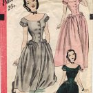 Hollywood 1882 40s Stunning EVENING LENGTH DRESS Vintage Sewing Pattern