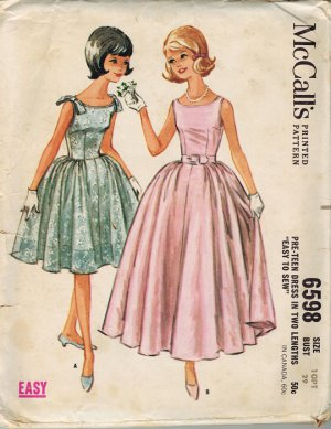 Prom Dress Patterns on Vintage Sewing Patterns   50s   60s Women S Vintage Patterns