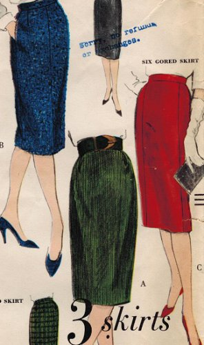 Vogue 5108 Vintage 60s Easy To Make - 3 Slim Skirts in 1 Pattern! Complete Size 28