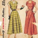 Simplicity 2806 1940s Square Neckline DRESS Vintage Sewing Pattern