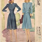 McCall 4547 40s Lovely Yoke Waist DRESS Vintage Sewing Pattern