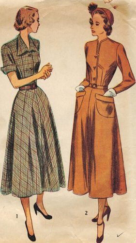 Simplicity 2617 40s Classic Ladies DRESS Vintage Sewing Pattern