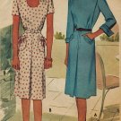 McCall 5975 40s Spectacular DRESS with Inverted Pleat & Pocket Detail Vintage Sewing Pattern