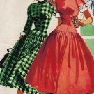 McCall's 3394 50s Rockabilly Party DRESS Vintage Sewing Pattern