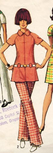 Simplicity 8689 70s Mod DRESS & TUNIC & PANTS Vintage Sewing Pattern