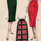 "Butterick 8638 50s *UNCUT ""One Yard"" Slim Wrap SKIRT in Three Styles Vintage Sewing Pattern"