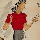 DuBarry 5246 40s Misses' BLOUSE SET Vintage Sewing Pattern