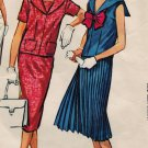 McCall's 4588 50s Classic MIDI Blouse & Two Skirted DRESS Vintage Sewing Pattern