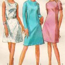 Simplicity 7506 60s Classy A-Line DRESS Vintage Sewing Pattern-Mad Men/Mod