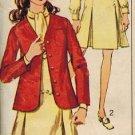 "Simplicity 7857 60s ""Designer Fashion"" SUIT Inverted Pleat Dress & Jacket Vintage Sewing Pattern"
