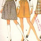 "McCall's 9398 VTG 60s MINI SKIRT Vintage Sewing Pattern ""Easy-to-Sew"""