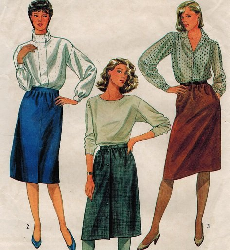 Simplicity 6624 80s Work SKIRTS Vintage Sewing Pattern