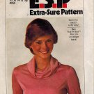 Simplicity 8111 70s Cowl Neck Pullover TOP Vintage Sewing Pattern