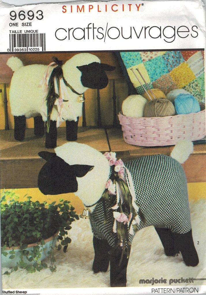 Simplicity 9693 *UNCUT/FF Large Stuffed Fleece SHEEP Sewing Pattern