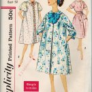 Simplicity 3230 50s/60s UNCUT/FF HOUSECOAT/HOUSEDRESS. Robe/Dressing Gown Vintage Sewing Pattern