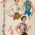 Simplicity 2195 50s UNCUT Alphabet BLOUSE Vintage Sewing Pattern