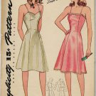 Simplicity 4352 40s Slim, Princess Panel SLIP in two styles Vintage Sewing Pattern