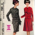 McCall's 7501 60s Pan Am Era *UNCUT/FF Classy SUIT, two skirt options, Vintage Sewing Pattern