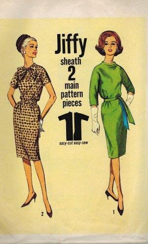 "Simplicity 4776 60s Sheath ""Jiffy"" DRESS Vintage Sewing Pattern"