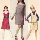 Simplicity 7778 60s Cute JUMPER DRESS Vintage Sewing Pattern Bust 32