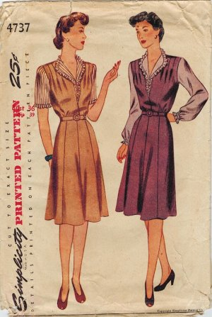 Simplicity 4737 40s *UNCUT* JUMPER & BLOUSE Vintage Sewing Pattern (with a story)