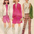 McCall's 9093 60s Slim PANTS, JACKET, TOP & SHORTS Vintage Sewing Pattern