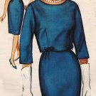 Simplicity 5319 60s *UNCUT* Pan Am Era DRESS & JACKET Suit Vintage Sewing Pattern