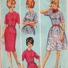 Simplicity 5278 60s Half Size DRESS with Slim or Full SKirt Vintage Sewing Pattern