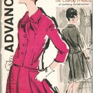 Advance 9525 60s Feminine *UNCUT SUIT JACKET & Pleated SKIRT Bishop Method Vintage Sewing Pattern
