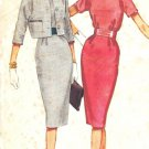 McCall&#39;s 5631 60s Junior Wiggle Dress & Jacket with Belt & Kimono Sleeves Vintage Sewing Pattern
