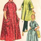 Simplicity 4471 50s Vintage *UNCUT ROBE with Mandarin Collar Sewing Pattern