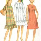 Simplicity 6890 60s Sweet Ruffled A line Dress Vintage Sewing Pattern