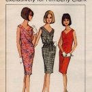 McCall's No.10 60s *UNCUT* VEE NECK Natural DRESS Vintage Sewing Pattern