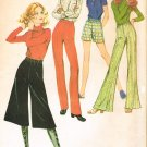 McCall's 2721 70s Retro *UNCUT Misses' MIDI PANTS Sewing Pattern W24