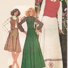 McCall's 4747 70s Vintage VEST & SKIRT Sewing Pattern