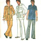 Simplicity 6887 Vintage 70s Men&#39;s Unlined JACKET & PANTS Sewing Pattern *Mixed Pattern J44/P38