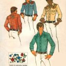 Simplicity 6693 Mid 70s Men's SHIRT Vintage Sewing Pattern