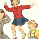 Simplicity 4771 40s Girl's SUSPENDER SKIRT, JACKET & CALOT Vintage Sewing Pattern