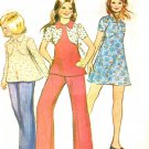 McCall's 4205 Vintage 70s DRESS or TOP with Yoke Detail & PANTS Sewing Pattern